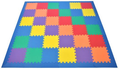 Wonder Mats-6 Assorted Colors Floor Foam Mats w/Edges