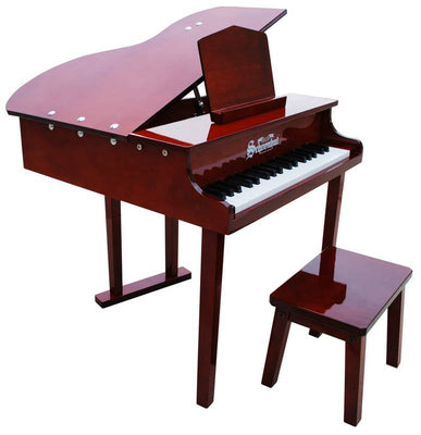 Children's Piano - 37 Key Concert Grand Piano with Opening Top by Schoenhut in Mahogany