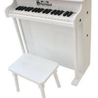 Children's Piano - 37 Key Traditional Deluxe Spinet Piano by Schoenhut, White, Black or Mahogany