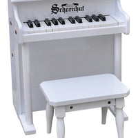 Children's Upright Piano - 25 Key Traditional Spinet piano by Schoenhut, White,Red,Black or Mahogany/Black