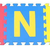 Wonder Mats-Letters & Numbers Floor Foam Mats w/White/Black Edges