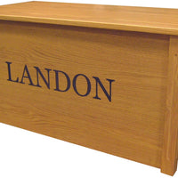 Personalized  Toy Chest/Toy Box w/ different fonts-Made in USA