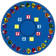 Flagship Kids Carpets-Super Circle™ Kids Educational Round Rug