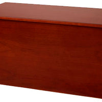 Handcrafted Dark Cherry Wooden Toybox-Made in USA