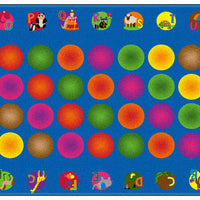 """Circle Time Learning"" kids educational rug"