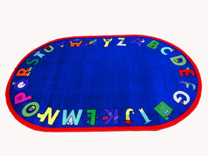 Kids World Carpets-Alpha With Attitude Children's Educational Rug