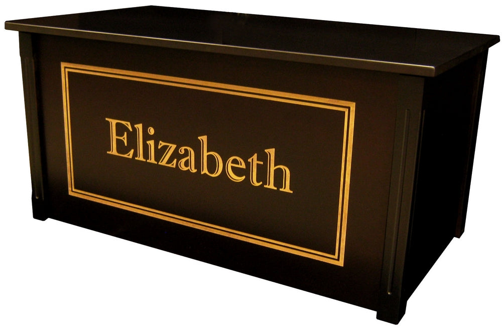 Groovy Personalized Wooden Toy Box Toy Chest Espresso Made In Usa Andrewgaddart Wooden Chair Designs For Living Room Andrewgaddartcom
