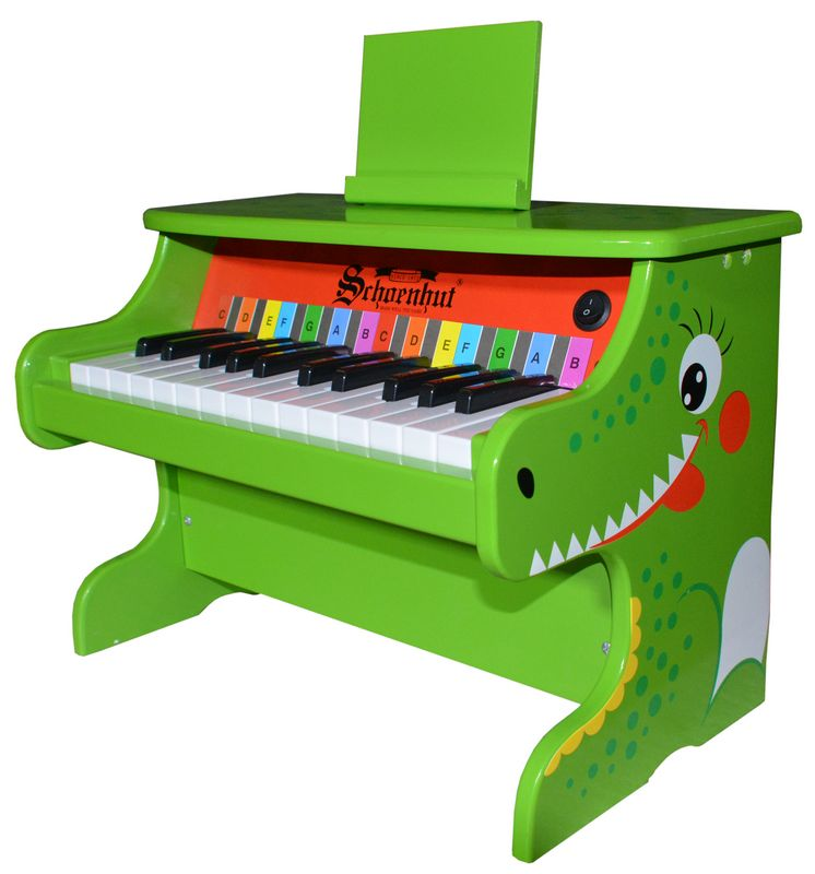 Schoenhut 25-key Animal Electronic Piano-Alligator
