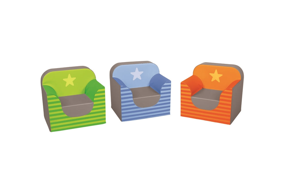 Star Club Armchair Kit Set of 3 By Wesco
