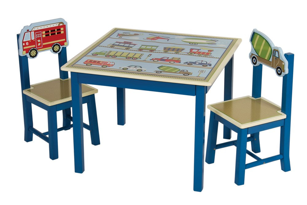 Moving All Around Kids Table & 2 Chairs Set