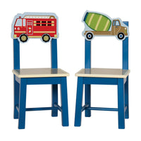 Moving All Around Kids Wooden Chairs set of 2