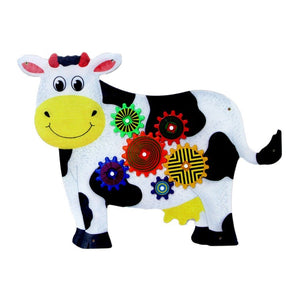 Cow Wall Panel -Gear Wall toy-Made in USA