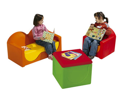 Kids  Couch, Chair and Storage Bin By Wesco