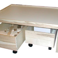 Children's Wooden Train Table,Optional Trundles