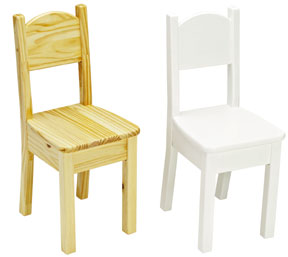Set of 2 Kids Open Back Chair, More Colors