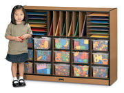 SPROUTZ® SECTIONAL MOBILE CUBBIE, 4 Colors, Optional Trays by Jonti Craft