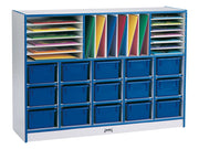 RAINBOW ACCENTS®  SECTIONAL MOBILE CUBBIE Optional trays - 8 colors by Jonti Craft