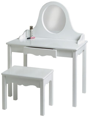 Childs Vanity and Bench, 7 Available Colors-Made in USA