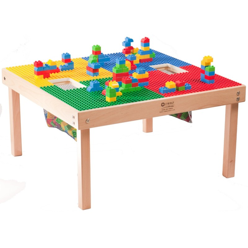 Large Lego or Duplo/Mega Compatible Fun Builder Block Table, Made in US