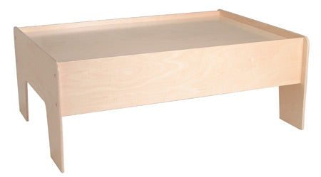 US Made Natural Finish Child Play Table , Optional Drawers