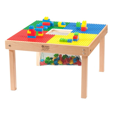 Medium Lego or Duplo/Mega Compatible Fun Builder Block Table, Made in US