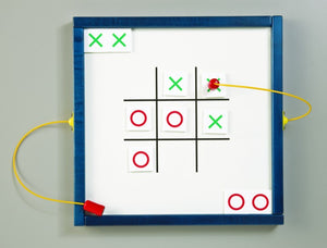 Magnetic Mix-Ups Wall Game Wall Activity Toy - Tic Tack Toe-Made in USA