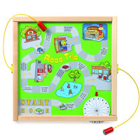 Magnetic Mix-Ups Wall Game Wall Panel Toy - Road Trip-Made in USA