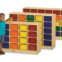 20 TRAY MOBILE CUBBIE With colored trays by Jonti Craft