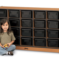 SPROUTZ® 20 TRAY MOBILE CUBBIE Optional Trays - BLACK CARAMEL NAVY RED by Jonti Craft
