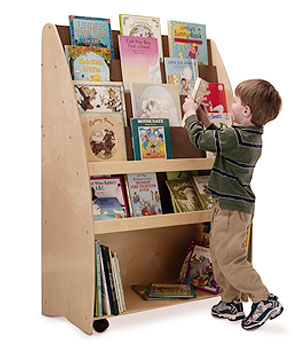 NewWave Portable Two Sided Library /Tall Kids Book Display-Made in USA