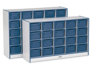 RAINBOW ACCENTS® 20 TRAY MOBILE CUBBIE Optional Trays - BLUE 8 colors by Jonti Craft