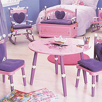 Child Vanity Table & Chair Set Princess