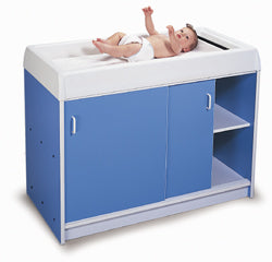 Round-Edge Infant Care Changing Cabinet in 3 Colors-Made in USA