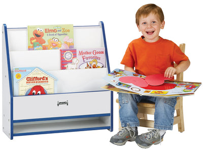 RAINBOW ACCENTS® TODDLER PICK-a-BOOK STAND - 1 SIDED - BLUE-9 colors by Jonti Craft