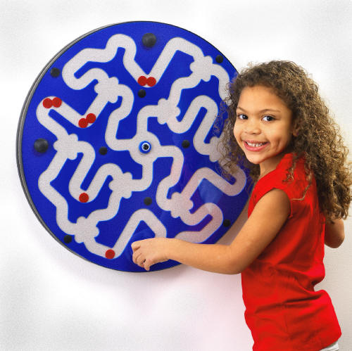 Dizzy Disks Wall Panel Toy Blueberry on Frost, Made in USA