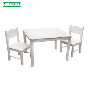 Classic White Childrens Table and Chairs