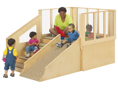 Tiny Tots Play Loft - 12-24 MONTHS, Optional Bins, Made in USA