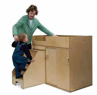 Toddler Changing Cabinet w/Stairs-Made in USA