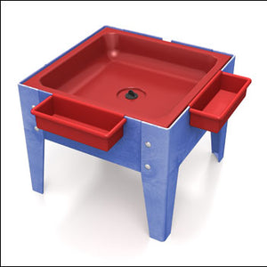Toddler Mite with Red Tub w/Lid w/Drain-Made in USA