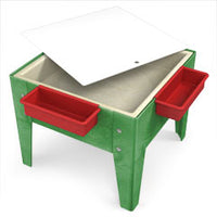 Toddler Mite/ play Table in Blue Red Green or Sandstone