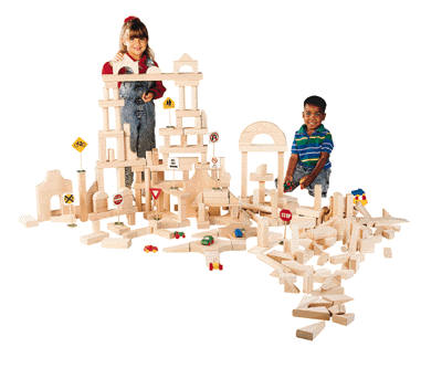Children's blocks play-Unit Blocks, 110 pieces