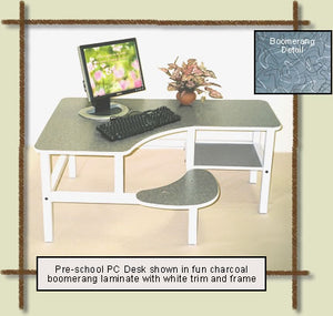 "Upscale Kids Computer Desk-Prodigy 19"" Pre-School PC Desk,Optional Hutch"