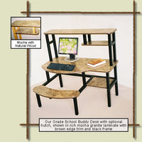 Upscale Kids Computer Desk-Prodigy Buddy PC Desk, Optional Hutch