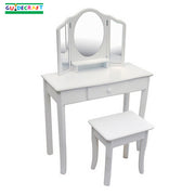 Girls Vanity and Stool Classic White
