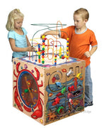 Waiting room toys-Sea Life Play Cube, 5 Sides of Play-Made in USA