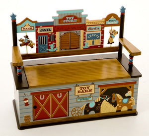 Wild West ToyBox/Bench Seat w/ Storage