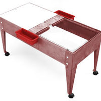 Youth Double Mite/Play Table - Blue Red Green Sandstone