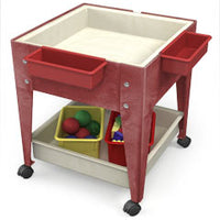 Youth Mobile Mite/ play Table in Blue Red Green or Sandstone