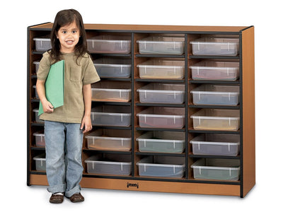 SPROUTZ® 24 PAPER-TRAY CUBBIE Optional paper-trays - 4 colors by Jonti Craft