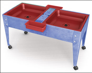 Youth Double Mite with Red Tubs w/Lid w/Drain, Made in USA